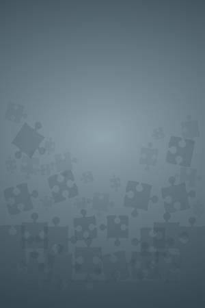 Pièces de puzzle gris transparent - Illustration vectorielle. Modèle vierge de puzzle jigsaw dispersé. Fond de vecteur.
