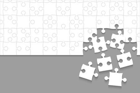 Certains puzzles blancs pièces gris - vecteur puzzle