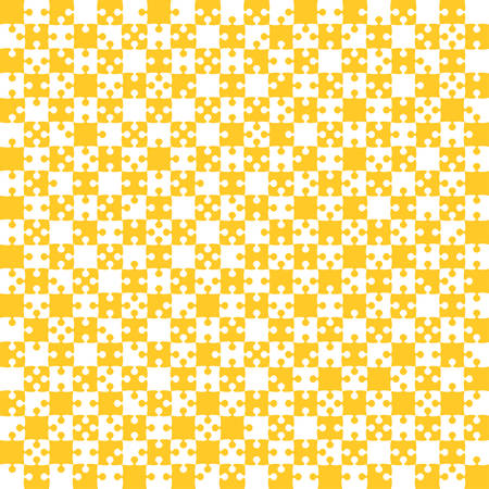 Orange Puzzle Pieces JigSaw - Vector - Field Chess