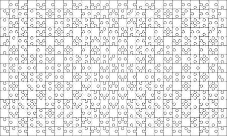 paper background: 375 White Puzzles Pieces Jigsaw - Vector
