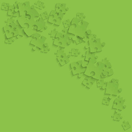 Green Puzzles Pieces - Vector Smoke Jigsaw