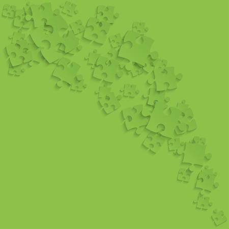 Green Puzzles Pieces - vecteur de la fumée puzzle