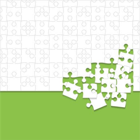 Quelques morceaux de puzzles blancs