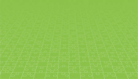 Perspective Green Puzzles Pieces