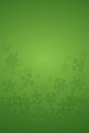 Pièces de puzzles verts - Vector Illustration Jigsaw