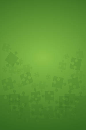 Green Puzzles Pieces - Vector Illustration Jigsaw
