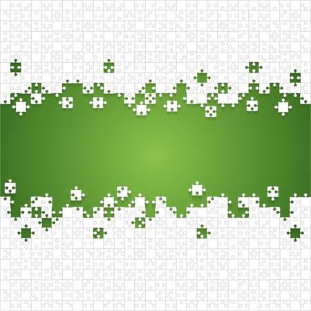 Quelques morceaux de puzzles blancs verts