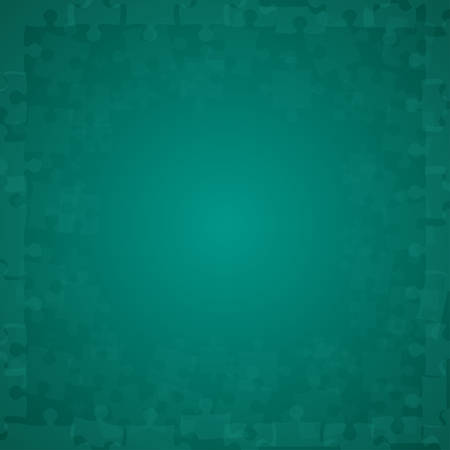 Teal Puzzles Pieces - Vector Illustration Jigsaw