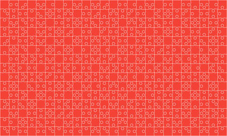 Red Puzzles Pieces Jigsaw - Vector