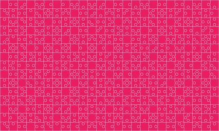 375 Pink Puzzles Pieces Jigsaw - Vector