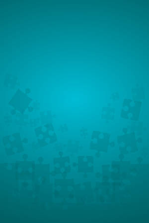 Teal Puzzles Pieces - Illustration vectorielle Jigsaw