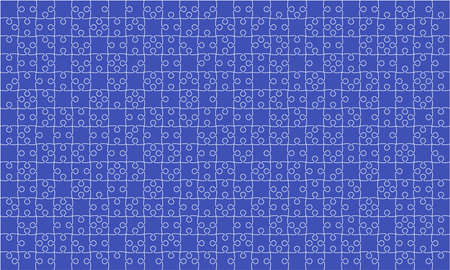 375 Blue Puzzles Pieces Jigsaw - Vector