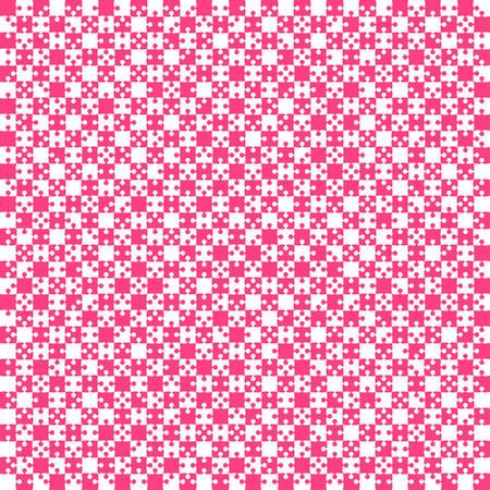 Pink Material Design Pieces illustration.