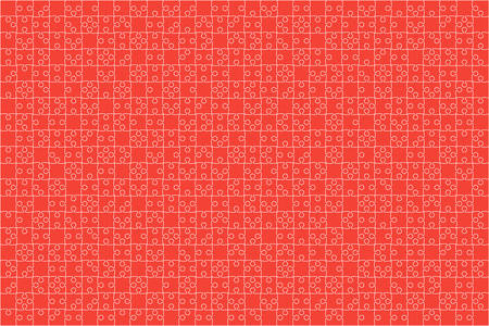 Red Puzzles Pieces Jigsaw illustration. Illustration