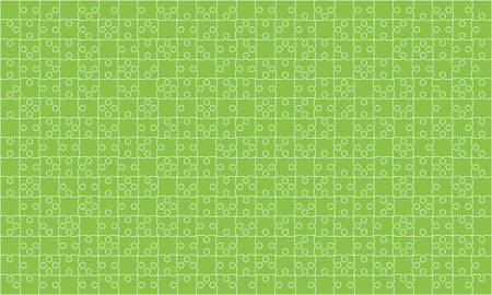 Green Puzzles Pieces Jigsaw illustration.