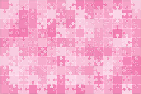 Vector Pink Puzzles Pieces Jigsaw illustration.