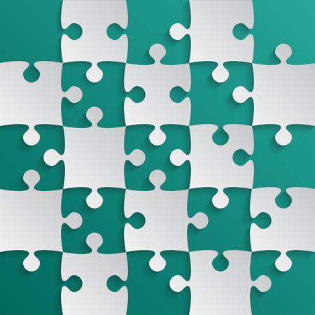 Gray Puzzle Pieces Teal Jigsaw Field Chess
