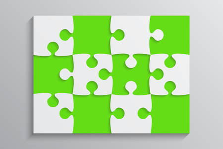 Green and white puzzle pieces banner.