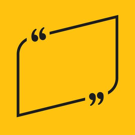 Speech Bubble Arrow. Empty Quote Bracket.
