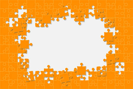 Background Puzzle. Jigsaw Puzzle Frame. Royalty Free Cliparts ...