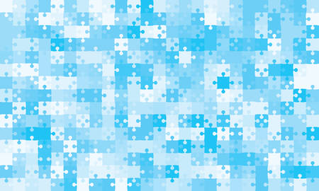 375 Blue Background Puzzle. Infographic Presentation. Jigsaw Puzzle Banner. Vector Illustration Template Shape. Abstract Puzzle Background. Puzzle Game Mosaic, Mosaic Tiles. Pieces Background Puzzles. Stock Illustratie