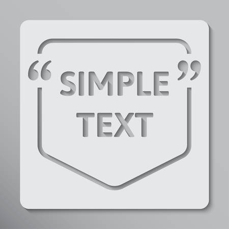 Vector Speech Bubble Quote Blank Template. Empty Qoute Template. Business Card Template, Information Text. Bracket. Sending Direct Speech. Quotes. Speech Qoute Object.