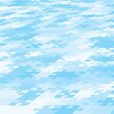 Perspective Background Blue Pieces Puzzle. Jigsaw Banner. Blue White Pieces Puzzle. Vector Illustration Template Shape. Abstract Background. Puzzle Game, Mosaic, Mosaic Tiles Background Puzzle Pieces. Ilustrace