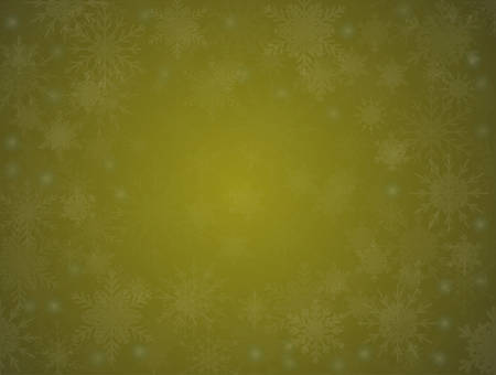 Yellow Cover, Poster, Card, Banner or Background with Snowflakes. Design in Merry Christmas and Happy New Year Style with Winter Snow. Happy Holidays. Horizontal Format. Winter and Snow Background.