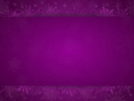 Purple Banner with Snowflakes Christmas, New Year.