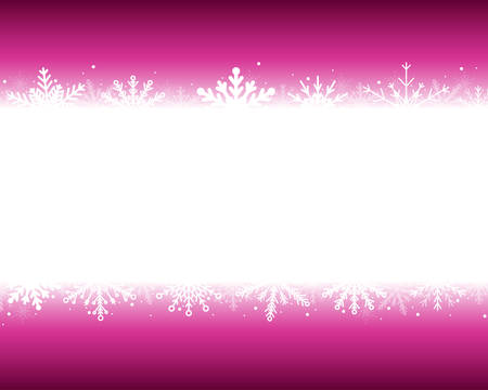Purple Cover, Poster, Card, Banner or Background with Snowflakes. Design in Merry Christmas and Happy New Year Style with Winter Snow. Happy Holidays. Frame Format. Winter and Snow Background. 矢量图像
