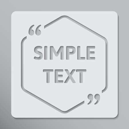 The Speech Bubble Hexagon. Empty Quote Bracket. Foto de archivo