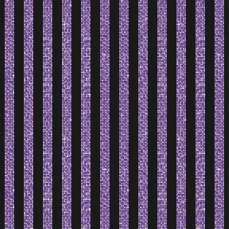 Parallel Vertical Lines Banner Purple Sequins Background. Mosaic, Sequins, Glitter, Sparkle, Stars, Glow. Disco Party Background with Shiny Purple Paillettes. Dot Glitter Texture. Stock fotó - 111082283