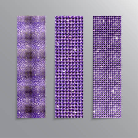 The Banner Purple Sequins Glitter, Sparkle, Back. Illusztráció