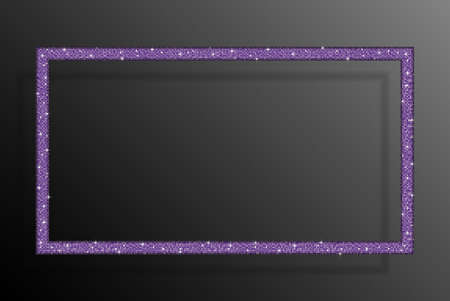Rectangle Banner a Purple Sequin Background Frame