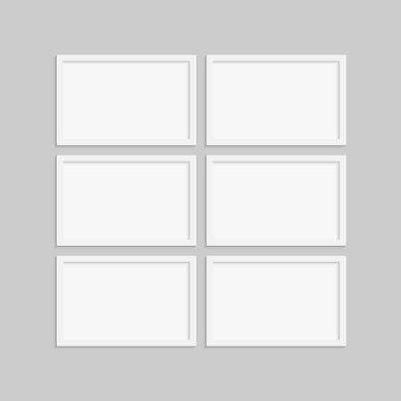 Collage Six Frames for Photo or Illustration. Standard-Bild - 113822287