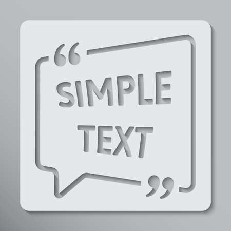 The Vector Speech Bubble Quote Blank Template.