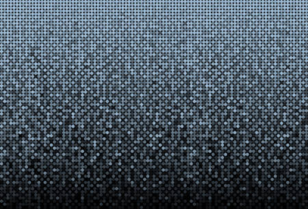 Banner Blue Sequins Background. Mosaic Sequins Glitter, Sparkle, Stars, Glow. Disco Party Background with Shiny Paillettes. Dot Glitter Texture. Disco Blue Banner.