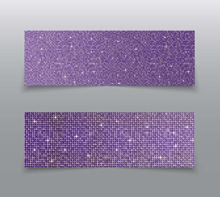 The Banner Purple Sequins Glitter, Sparkle, Back. 스톡 콘텐츠
