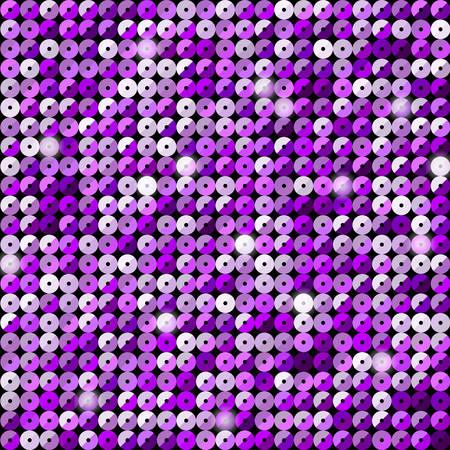 Banner Purple Sequins Background. Mosaic Sequins Glitter, Sparkle, Stars, Glow. Disco Party Background with Shiny Paillettes. Dot Glitter Texture. Disco Banner. Illusztráció