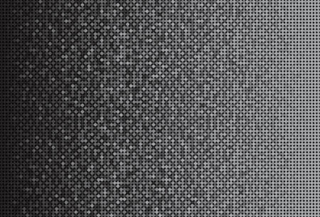 Banner Silver Sequins Background. Mosaic Sequins Glitter, Sparkle, Stars, Glow. Disco Party Background with Shiny Pallettes. Dot Glitter Texture. Disco Banner.