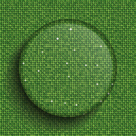 The Circle Glass Banner Green Sequins Background. 免版税图像