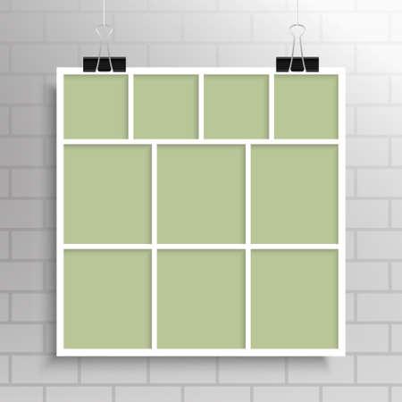 Collage Ten Frames for Photo or Illustration. Standard-Bild - 113822797