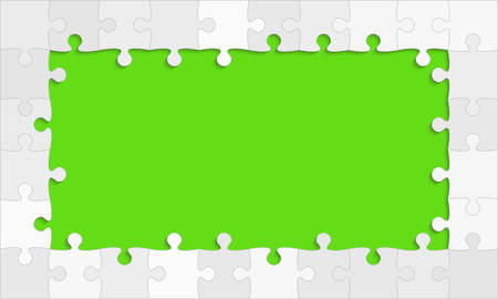 The Green Background Puzzle. Jigsaw Puzzle Banner.