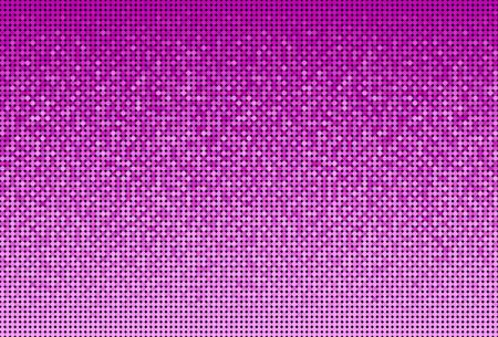 Banner Pink Sequins Background. Mosaic, Sequins Glitter Sparkle, Stars, Glow. Disco Party Background with Shiny Paillettes. Dot Glitter Texture. Disco Pink Banner. Illusztráció