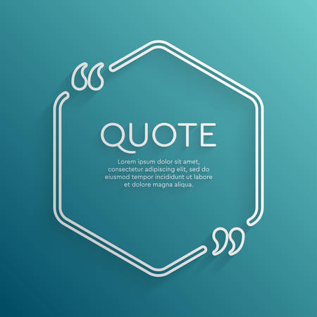 Vector template creative quote with bracket square Ilustrace
