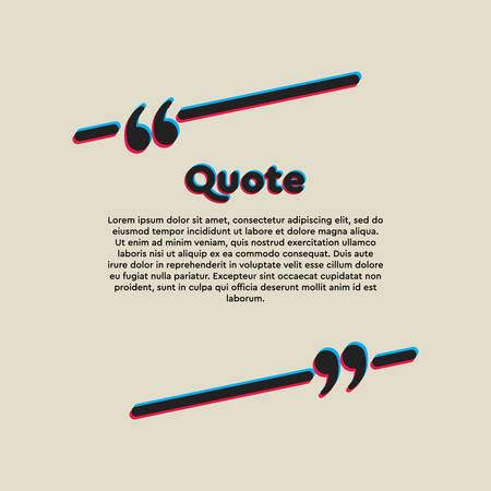 Vector template blank lines bubble. Speech box with bracket. Empty frame for messages. Business card template information text message. Quote text form. Background for motivation inspiration. Çizim