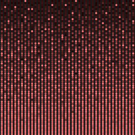 Red sequins, glitters, sparkles, paillettes, mosaic background template. Abstract luxury halftone vector creative backdrop. Glitter rounds with gradient trendy. Vibrant shiny dots glitter texture.