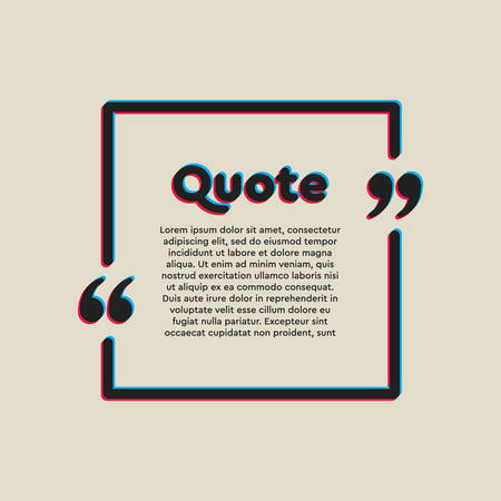 Vector template blank square bubble. Speech box with bracket. Empty frame for messages. Business card template information text message. Quote text form. Background for motivation inspiration. Çizim