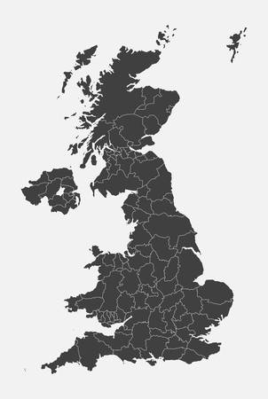 Detailed vector map country The United Kingdom isolated on background. The Great Britain template, report, infographic, backdrop. Europe England nation pattern or silhouette sign concept. UK islands.