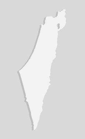 High detailed vector Israel country outline border map isolated on background. State template Near East trip pattern, report, infographic, backdrop. Asia nation business silhouette sign concept.